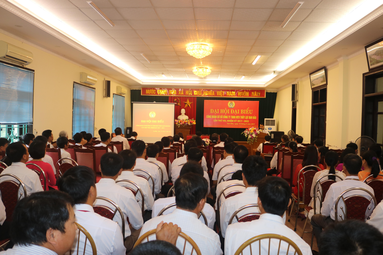 Đại hội Công đoàn Công ty TNHH MTV Thủy lợi Tam Đảo nhiệm kỳ 2017-2022